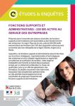 Fonctions supports et administratives : 230 000 actifs au service des entreprises