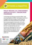 Le projet régional de l'enseignement agricole 2013-2017 : évaluer pour progresser