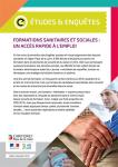 Formations sanitaires et sociales : un accès rapide à l'emploi