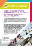 L'accès à l'emploi des diplômés BPJEPS 2016 (Brevets Professionnels de la Jeunesse, de l'Education Populaire et du Sport)