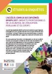 L'accès à l'emploi des diplômés BPJEPS 2017 (Brevets professionnels de la jeunesse, de l'éducation populaire et du sport)