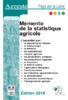 Mémento de la statistique agricole. 2019 - application/pdf
