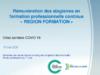 """Rémunération des stagiaires en formation professionnelle continue """"Région Formation"""" (mise à jour du 18 mai 2020) - application/pdf"""