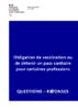"""Questions-réponses """"Obligation de vaccination ou de détenir un pass sanitaire pour certaines professions"""" - application/pdf"""